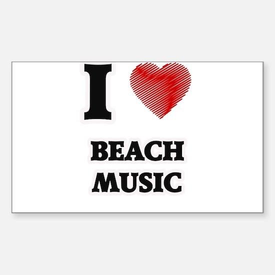 I Love Beach Music Decal