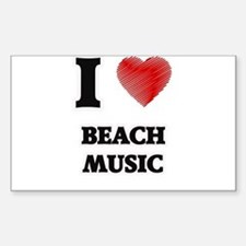 I Love Beach Music Stickers