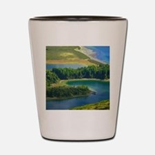 Lake in Azores Shot Glass