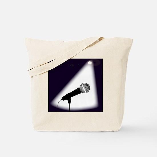 Cute Comedian microphone Tote Bag