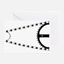 Funny Black and white bicycle Greeting Card