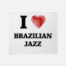 I Love Brazilian Jazz Throw Blanket