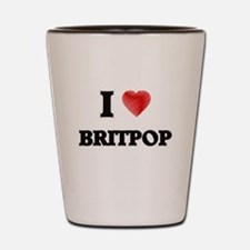 I Love Britpop Shot Glass
