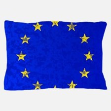 Cute Blue flag Pillow Case