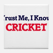 Trust Me, I know Cricket Tile Coaster