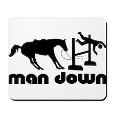 man down hunter Mousepad