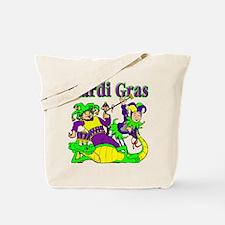 Mardi Gras Jesters and Gator Tote Bag