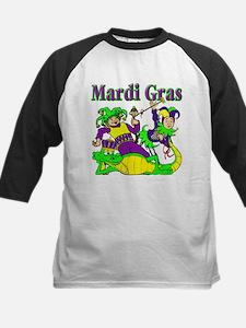 Mardi Gras Jesters and Gator Kids Baseball Jersey