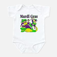 Mardi Gras Jesters and Gator Infant Bodysuit