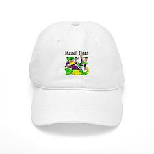Mardi Gras Jesters and Gator Baseball Cap