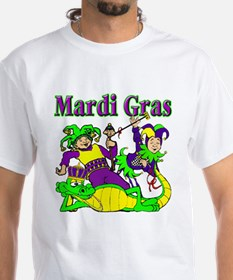 Mardi Gras Jesters and Gator Shirt