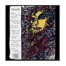 Trigger Illustrated Poem Tile Coaster