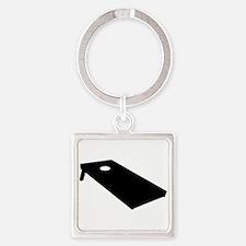 Cornhole Square Keychain
