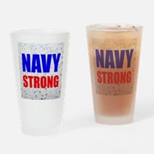 Navy Strong Drinking Glass