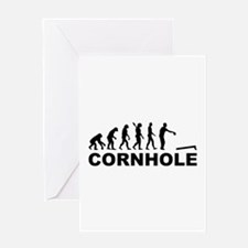 Evolution Cornhole Greeting Card
