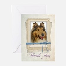 Collie Thank You Card Greeting Cards
