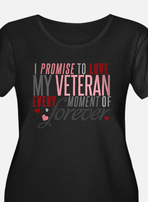 I Promise to love my Veteran Plus Size T-Shirt