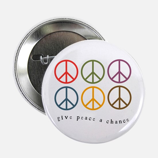 "Give Peace a Chance - 6 Signs 2.25"" Button"