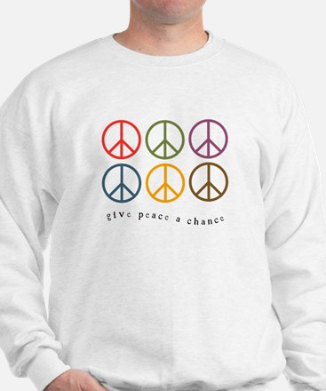 Give Peace a Chance - 6 Signs Sweatshirt