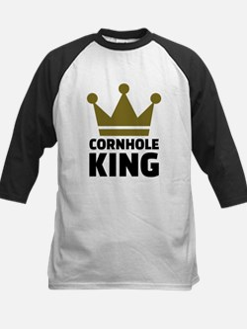 Cornhole king Kids Baseball Jersey