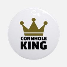 Cornhole king Round Ornament