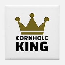Cornhole king Tile Coaster