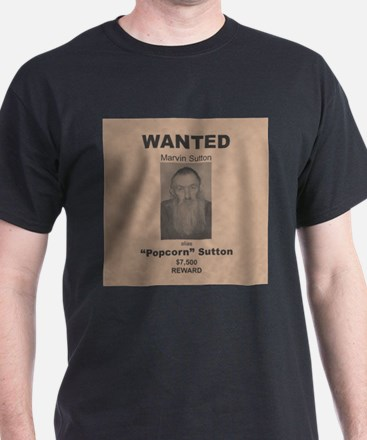 Popcorn Sutton Wanted Poster T-Shirt