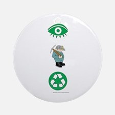 I Dig Recycling Ornament (Round)