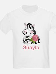 Shayla's Zebra Rose T-Shirt