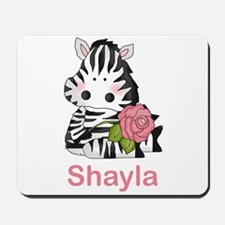 Shayla's Zebra Rose Mousepad