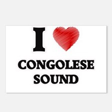 I Love Congolese Sound Postcards (Package of 8)