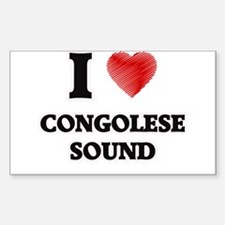 I Love Congolese Sound Decal