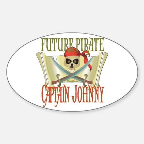 Captain Johnny Oval Decal