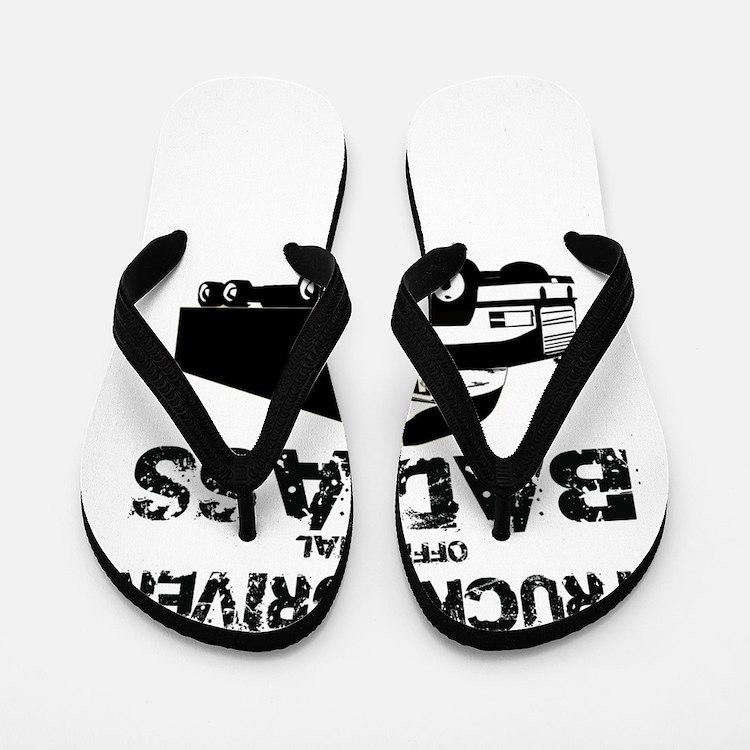 Truck Driver Official Badass Flip Flops