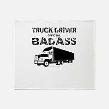 Truck Driver Official Badass Throw Blanket