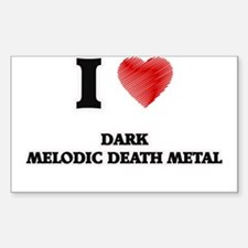 I Love Dark Melodic Death Metal Decal