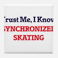 Trust Me, I know Synchronized Skating Tile Coaster