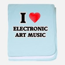 I Love Electronic Art Music baby blanket