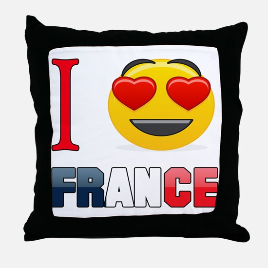 I love France Throw Pillow