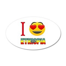 I love Ethiopia Wall Decal Sticker