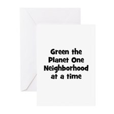 Green the Planet One Neighbor Greeting Cards (Pk o
