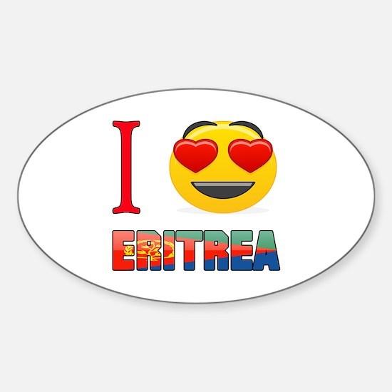 I love Eritrea Sticker (Oval)