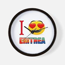 I love Eritrea Wall Clock