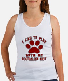 I Like Play With My Australian Mi Women's Tank Top