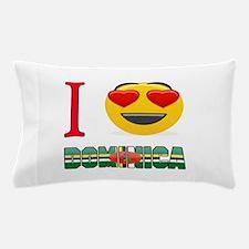 I love Dominica Pillow Case