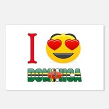 I love Dominica Postcards (Package of 8)