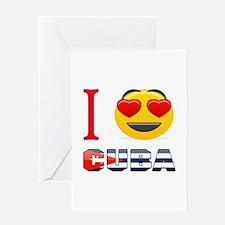 I love Cuba Greeting Card