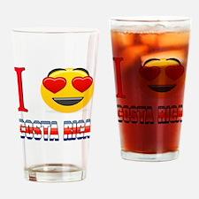 I love Costa Rica Drinking Glass