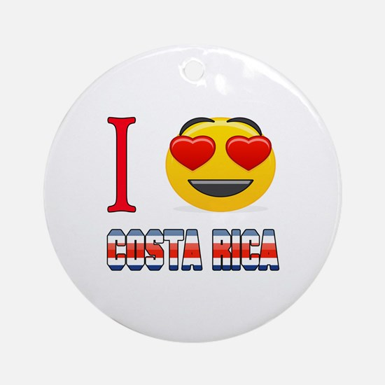 I love Costa Rica Round Ornament