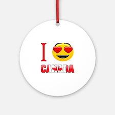 I love Canada Round Ornament